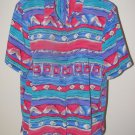 Womens Sz 14 Alfred Dunner S/S Button Front Blouse EUC