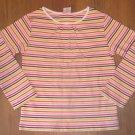New Girls Sz 7 Gymboree L/S Multi Colored Stripe T-Shirt Knit Top