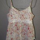 New Womens Sz L LC Lauren Conrad Button Front Summer Blouse/Top Retail $40