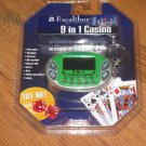 New Excalibur 9 in 1 Casino Keychain Handheld Game