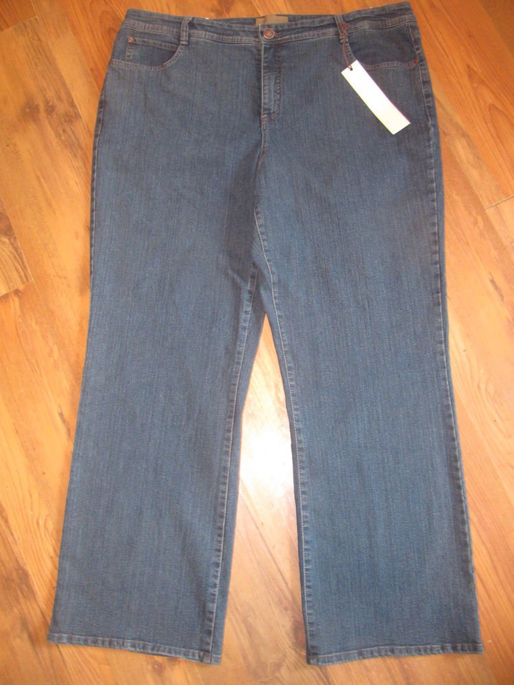 New Womens Sz 22 W Hannah Boot Cut Blue Jeans