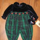 New Baby Girls Sz 6/9 M Good Lad One Piece Outfit W/Shoes Retails $41