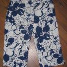 Womens Sz 2 Ann Taylor Blue/White Floral Capri Pants EUC