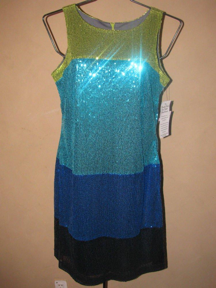 New Womens Sz 6 Gabby Skye Sleeveless Sequin Dress