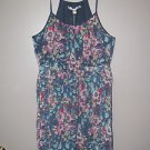 New Womens Sz 10 LC Lauren Conrad Floral Spaghetti Strap Summer Dress Retail $64