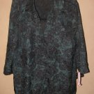 New Womens Sz 2X Prophecy Woman 3/4 Sleeve Blouse