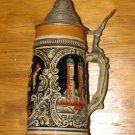 """German Beer Stein w/Lid - Marked Germany Approx 7 3/4"""""""