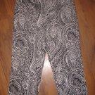 Womens Sz 6 D.F.A New York Black/White Capri Pants EUC