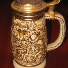 1987 Avon The Gold Rush Stein Ceramic with 22-karat Gold decorated Lid Numbered