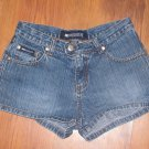 Womens Junior/Jr. Sz 0 Blue Asphalt Jean Shorts Euc