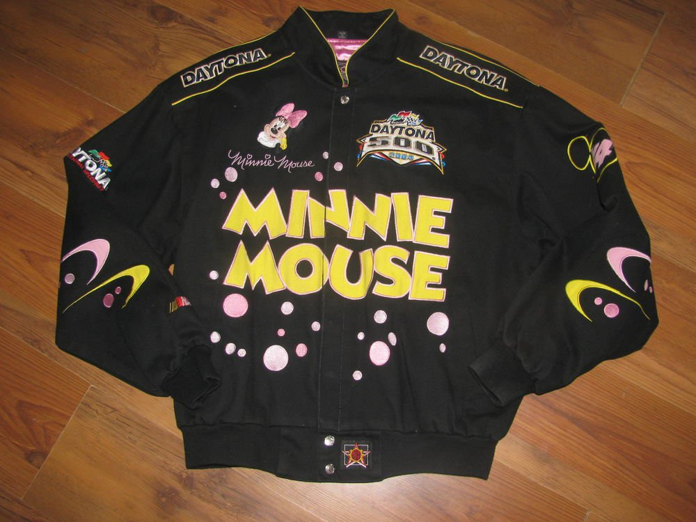 JH Design Sz L 2004 Daytona 500 Nascar Minnie Mouse Jacket