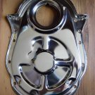 BBC CHEVY CHROME STEEL TIMING CHAIN COVER 396-454 Engines
