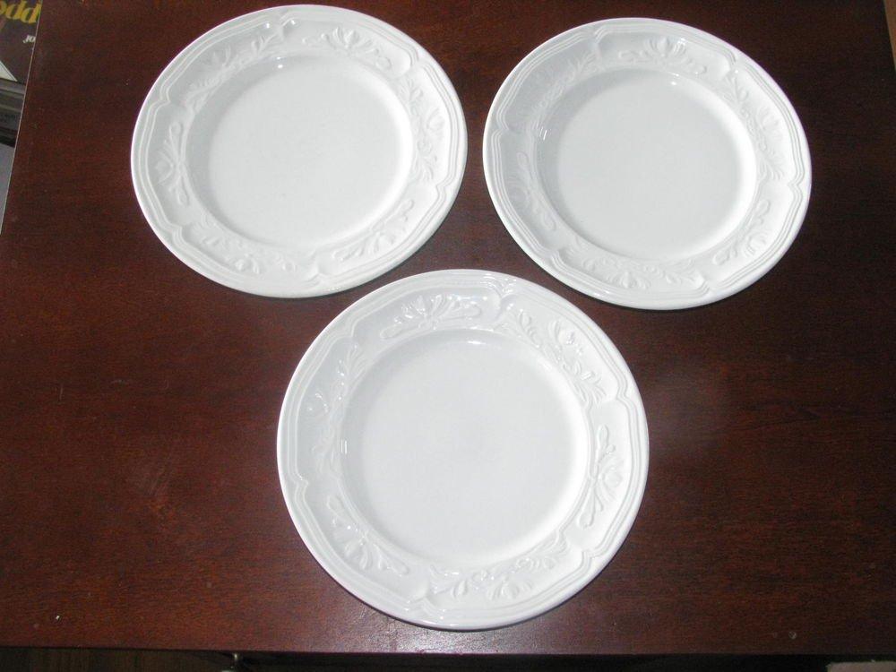 Lot of 3 Villeroy & Boch Cortina 2000 Bread & Butter Plates