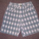 Womens/Juniors Sz 11/12 Sostanza Pink/Grey Walking Bermuda Jean Shorts EUC