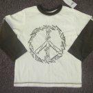 New Boys Sz 2T Gymboree Skateboard Peace Sign L/S T-shirt
