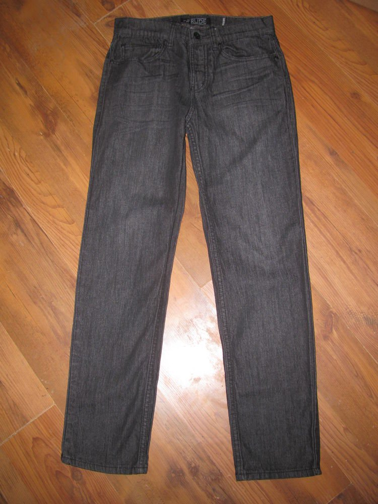 Mens Sz 30 x 30 Rude Slim Straight Black Jeans EUC