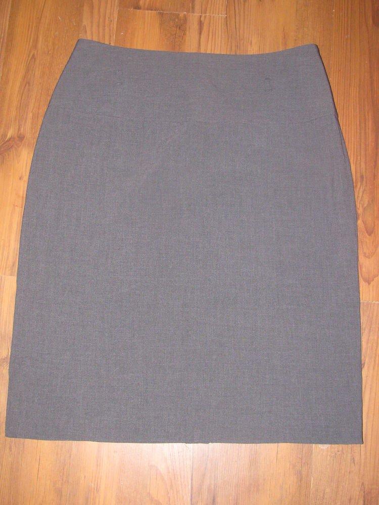 NWOT Womens Sz 14 Larry Levine Stretch Grey Skirt EUC