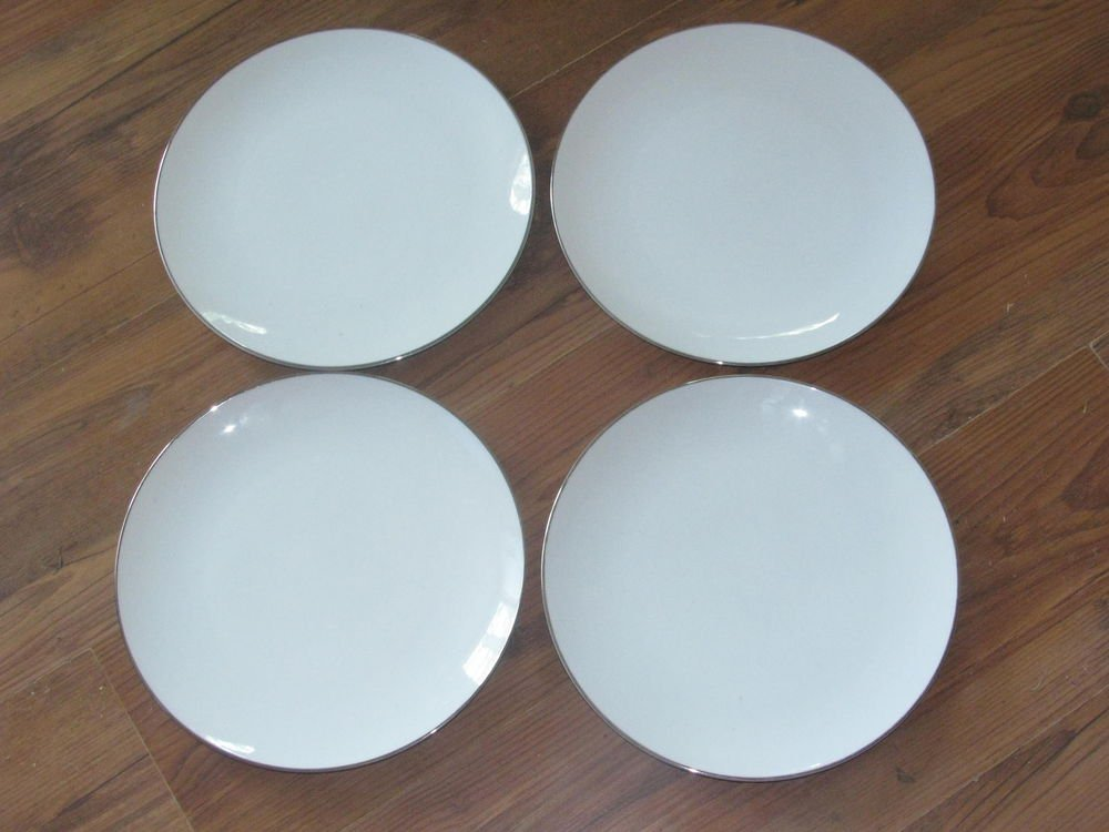 "Lot of 4 Noritake Colony 10 1/2"" Dinner Plates #5932"