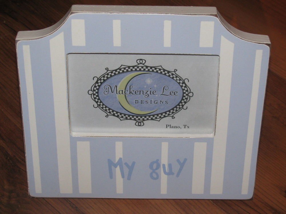 New My Guy Blue/White Boutique Picture Frame 8 x 9