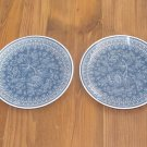 """Lot of 2 Wedgwood Blue Tonquin 6 7/8"""" Bread Plates"""