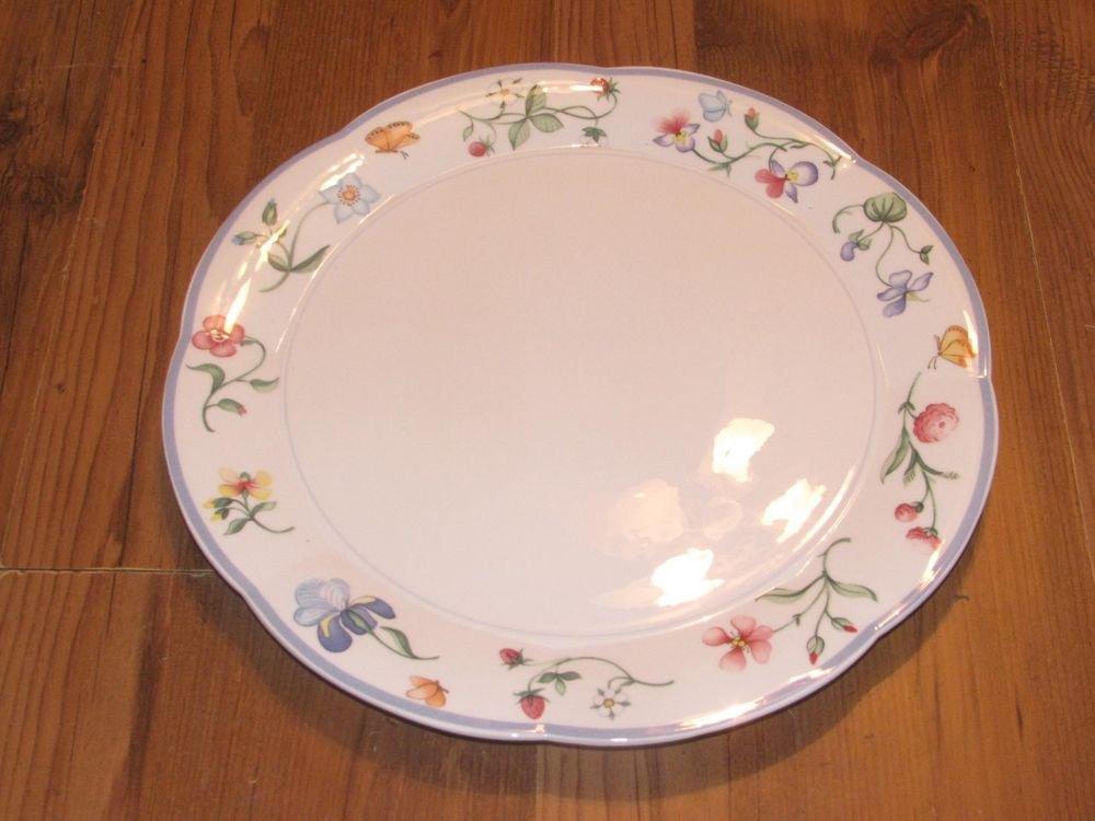 "Villeroy & Boch Mariposa 12"" Round Chop Plate/Platter Excellent"