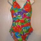 New Womens Sz 12 Penbrooke Floral One Piece Swimsuit