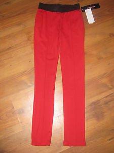 New Girls M (10/12) My Michelle Glitzy Girl Red/Black Skinny Pants/Leggings $40