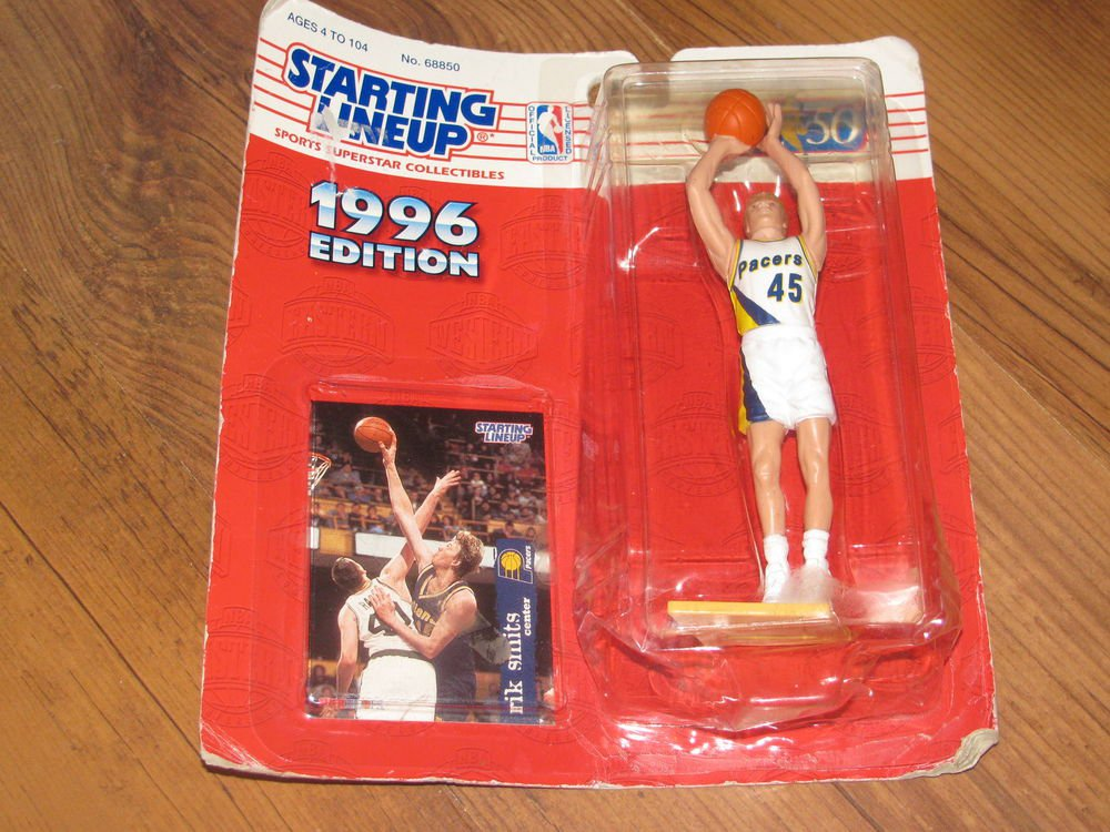 1996 Rik Smits Starting Lineup SLU Indiana Pacers Figure and Card