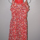 New Womens Sz 8 Elle Floral Ruffled Spaghetti Strap Summer Dress Retail $64