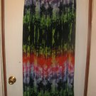 New Womens Sz L Chaus Multi Color Lined Long Skirt Retails $74
