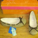 New Girls Sz 12 Sonoma Life Style Tan Slip on Shoes Faux Fur Lined