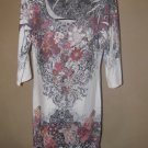 New Womens Sz XL Love-J L/S Knit Dress w/Beading