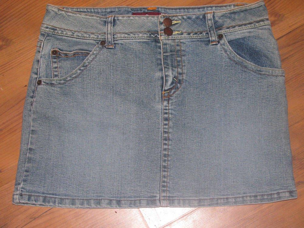 Womens/Jr. Sz 9/10 Jordache Lo-Rise Blue Jean Skirt EUC