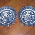 Lot of 2 Churchill England Blue Willow Soup Bowls