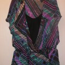 New Womens Sz M Halo Black/Purple Summer Top/Blouse