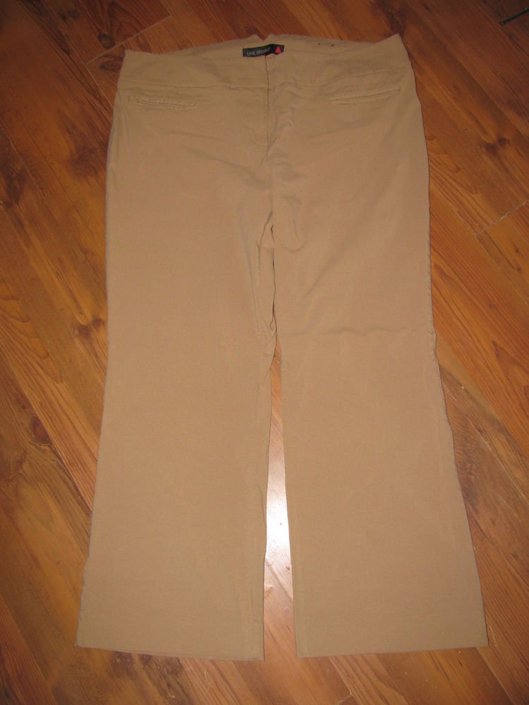 Womens Plus Sz 6 Lane Bryant Red Triangle Tan Pants EUC