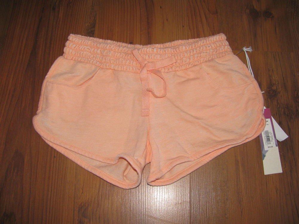 New Girls Sz S (8) Orange Hang Ten Knit Shorts