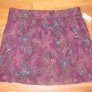 New Womens Sz L Sonoma Purple Floral Above Knee Skirt