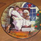 1997 Avon Heavenly Dreams Porcelain Christmas Plate Trimmed in 22 Carat Gold