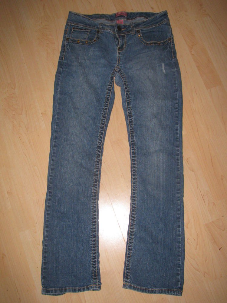 Womens/Juniors Sz 7/8 Elite Distressed Blue Jeans EUC