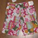 New Girls Sz 3 Gymboree Floral/Plaid Patchwork Bermuda Shorts