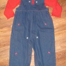 New Toddler Girls Sz 24 M Baby Togs Blue Jean 2 Piece Outfit/Set
