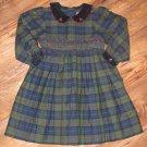 New Girls Sz 3T Friends Blue/Green/Burgandy Plaid L/S Dress $40