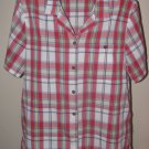 Womens Sz 14 Alfred Dunner S/S Plaid Blouse w/Pocket EUC