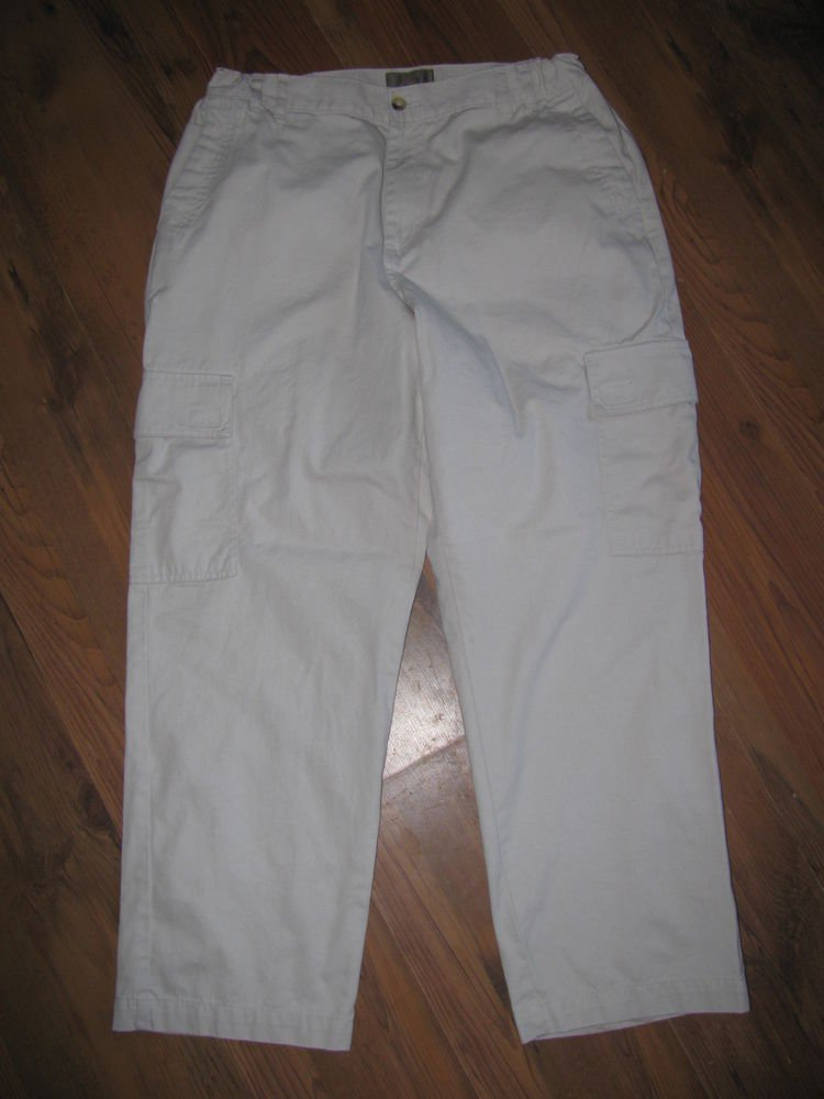 Mens Sz 34 x 30 Clearwater Outfitters Khaki Cargo Pants