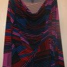 New Womens Sz M Rafaella L/S Multi Color Knit Top