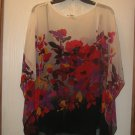 New Womens Sz S Chaus Floral Summer Blouse/Top w/Cami Retails $89
