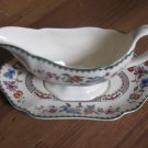 Spode Chinese Rose Gravy Boat and Underplate Engand