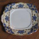 Rare 1927-1935 Royal Albert Crown China Hawthorne Square Handled Cake Plate