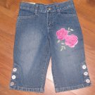 New Girls Sz 6 Healthtex Adjustable Waist Capri Jeans Retails $36